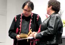 Mark Solomon presented with an Eagle Feather