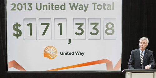 United Way campaign raised more than $171,000 in 2013