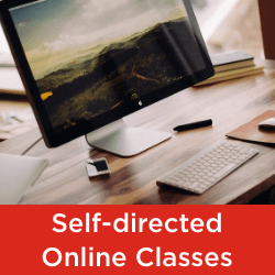 Seneca College Faculty of Continuing Education list of self-directed online part-time classes and courses
