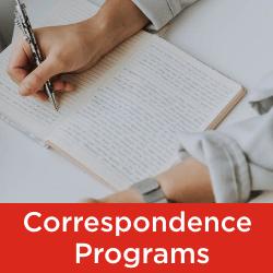 Correspondence Programs