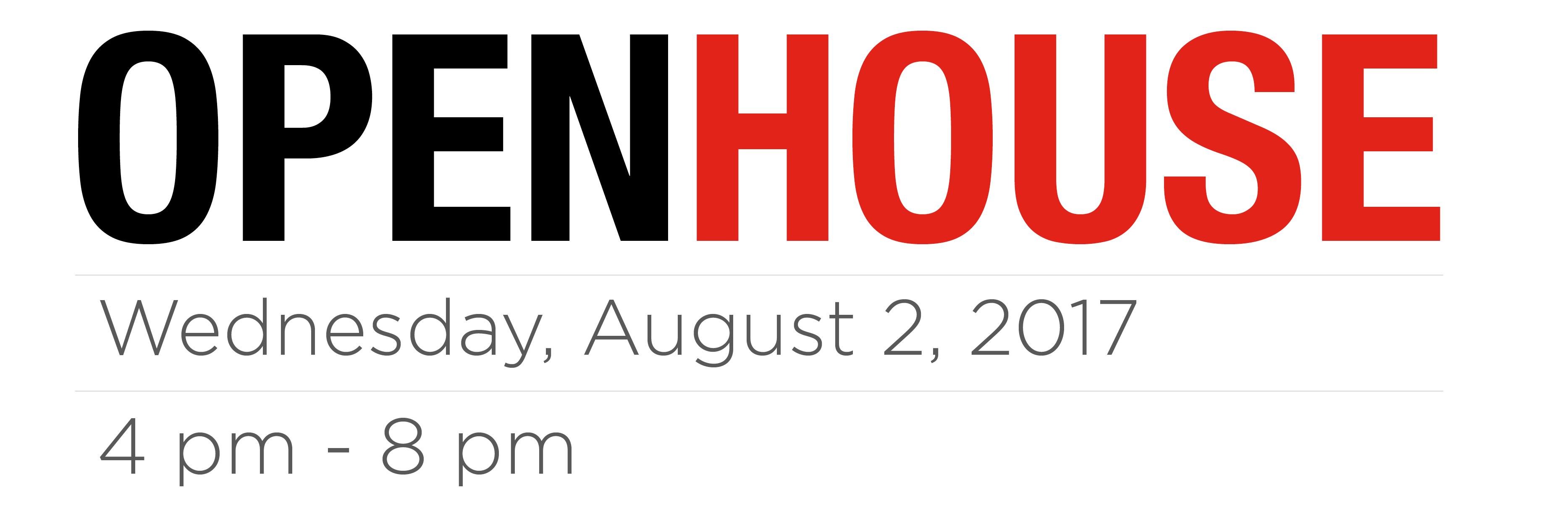 Open House Aug 2, 2017