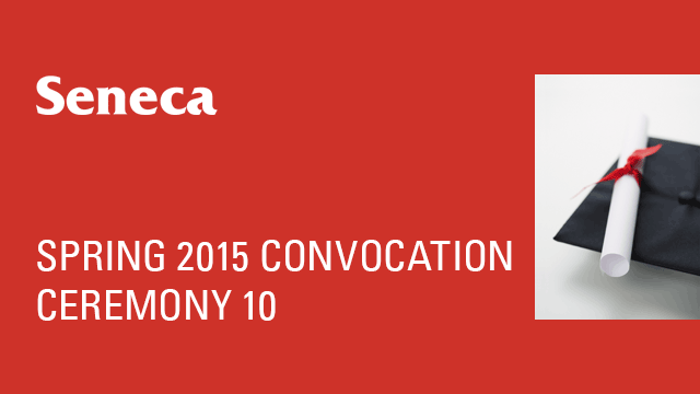 Spring 2015 Convocation - Ceremony 10