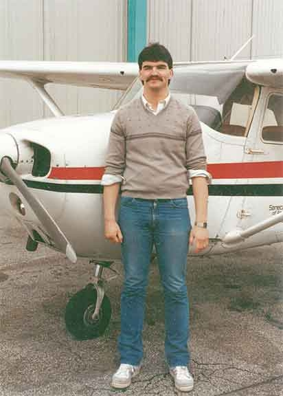 Steve Linthwaite is pictured at Buttonville Airport, when he was a student at Seneca.