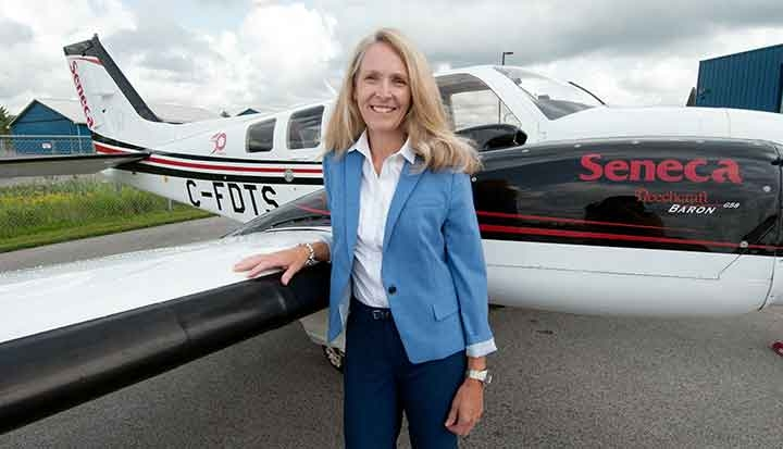 Lynne McMullen, Director, Business Development, School of Aviation at Peterborough Campus.