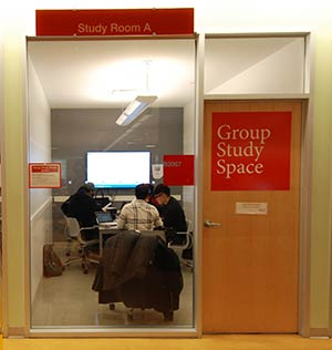 group study space room at newnham computing commons