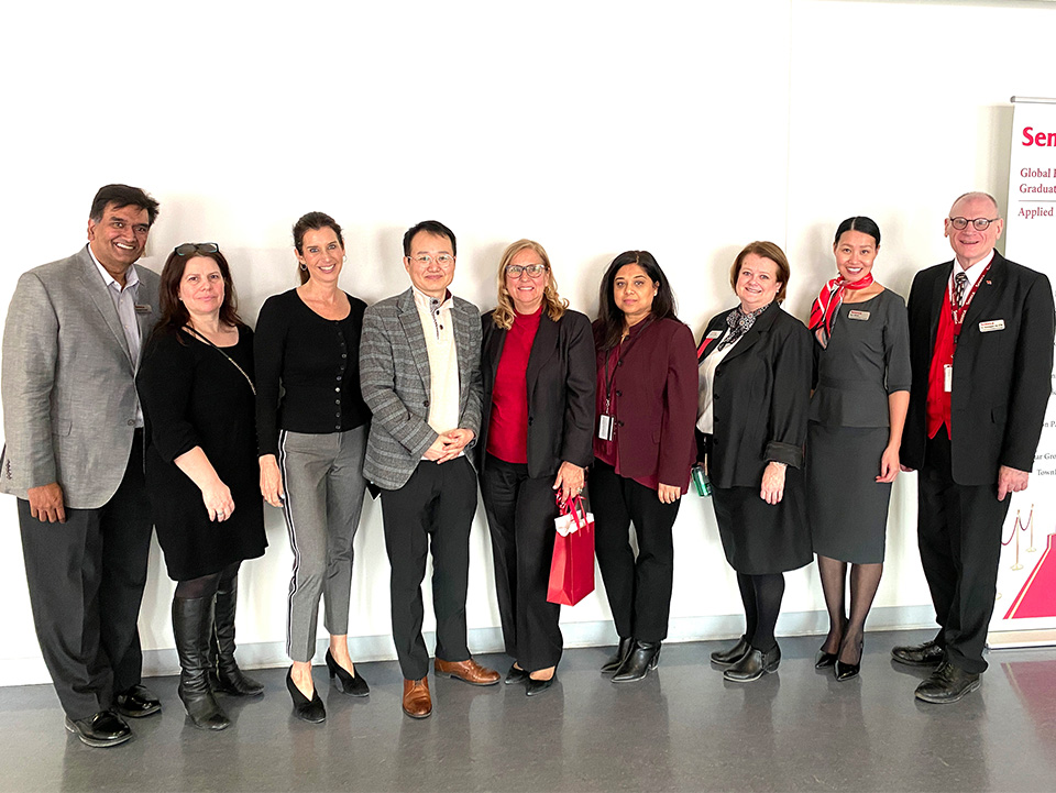 Prof. Bruce Shim with faculty members of the School of Hospitality & Tourism.