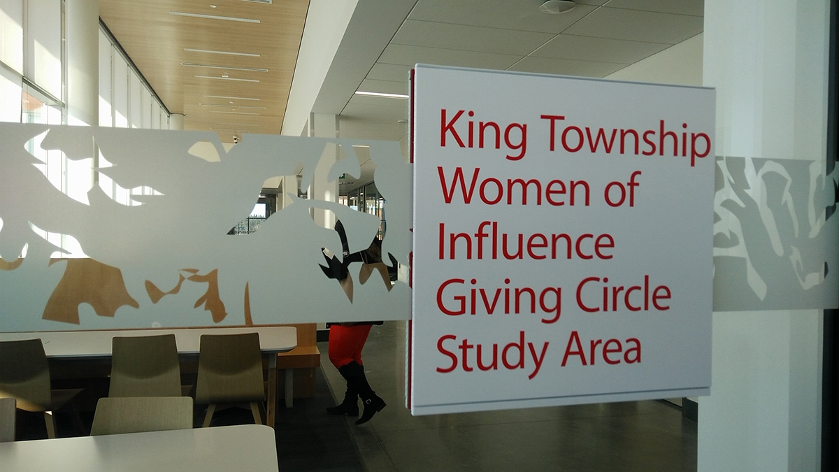 King Township Women of Influence Giving Circle Study Area